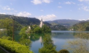 Sziget a Bled-i tavon