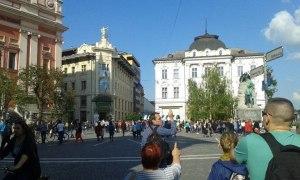 Ljubljana főtere, a Preseren tér