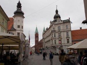 Maribor egyik sétálóutcája